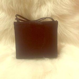 Black satin mini purse